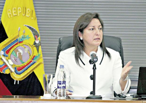 Lucy Blacio, jueza de la Corte Nacional de Justicia que dejará su cargo.