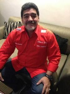 Maradona se encuentra en el cierre de campaña de Maduro