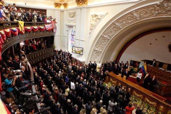 Asamblea General de Venezuela (Foto AP/Oficina de Prensa del Palacio de Miraflores)
