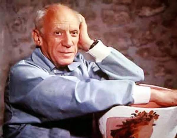 Retrato de Pablo Picasso. Foto de Archivo.