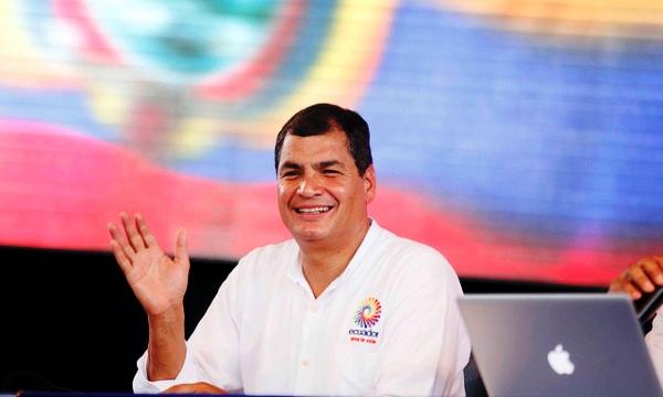 Rafael Correa, Presidente del Ecuador. Foto de Archivo, La República.