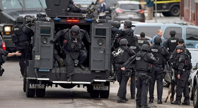 Policía SWAT, en Watertown. EFE/EPA/CJ GUNTHER
