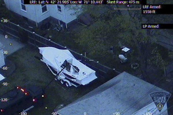 El equipo SWAT a la hora de captura de Dzhokhar Tsarnaev