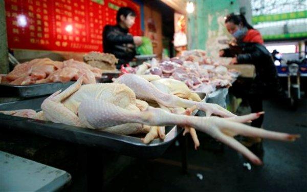 Mercado de aves el jueves, 4 de abril del 2013 en Shanghai, China. Una nueva cepa de gripe aviar ha causado el cuarto muerto entre los 11 casos confirmados. (Foto AP)