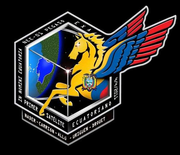 La insignia de la misión espacial del Pegaso.