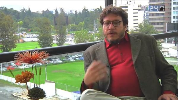 El escritor colombiano Santiago Gamboa entrevistado por Jorge Ortiz, en La República.