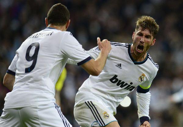 Sergio Ramos, celebrando su segundo gol.