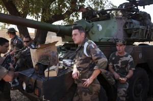 Las tropas francesas desembarcaron en Enero