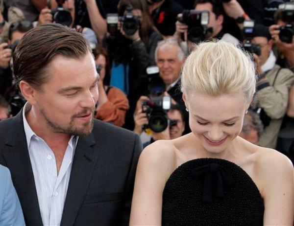 Actores Leonardo DiCaprio y Carey Mulligan posan para los fotógrafos antes del estreno de The Great Gatsby en la 66ta edición del festival de cine de Cannes, miércoles 15 de mayo de 2013. (AP Foto/Francois Mori)