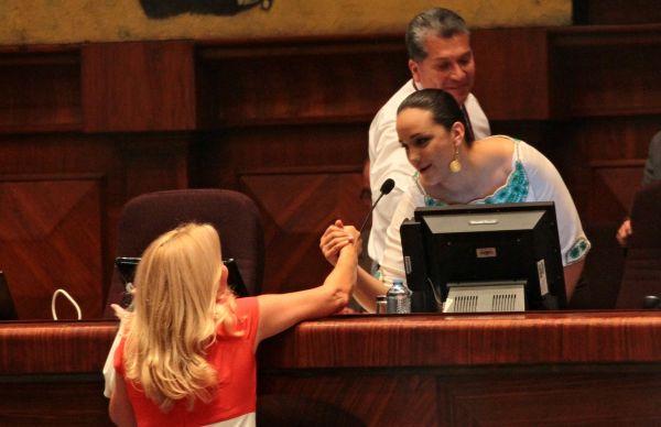 Gabriela Rivadeneira, la nueva Presidenta de la Asamblea Nacional.(API/JUAN CEVALLOS).