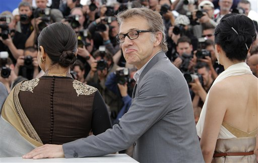 El integrante del jurado Christoph Waltz durante una sesión de fotos para la 66ª edición del Festival de Cine de Cannes, en Francia el miércoles 15 de mayo de 2013. (Foto AP/ Francois Mori)