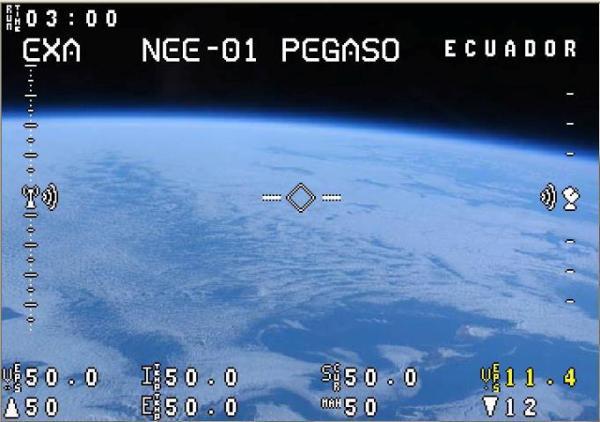 Simulación de las imágenes de la Tierra que el Pegaso va a difundir mañana.