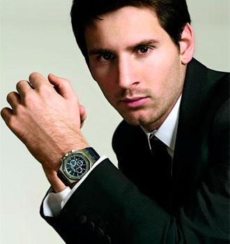 Lio Messi luciendo su diseño.