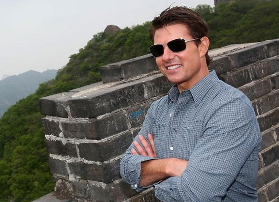 Tom en la muralla China.