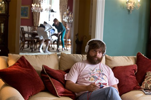 """Zach Galfianakis en una escena de la película """"The Hangover Part III"""" en una fotografía publicitaria sin fecha proporcionada por Warner Bros. Pictures. (Foto AP/Warner Bros. Pictures)"""