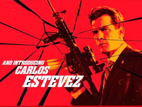 Charlie Sheen como Carlos Estevez en Machete 2