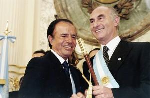 Fernando de la Rúa y Carlos Menem