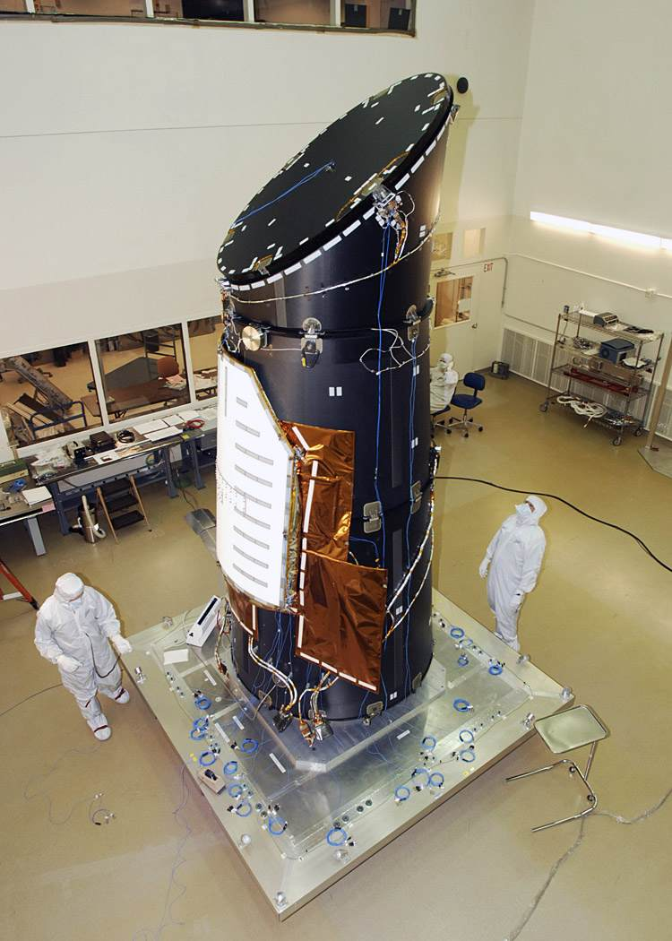 El telescopio Kepler antes de su lanzamiento.