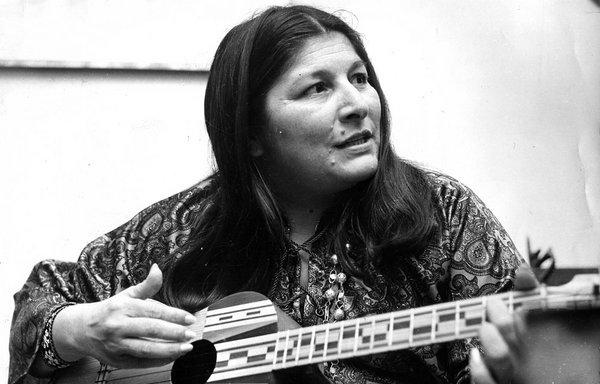 Mercedes Sosa, cantautora argentina. Foto de Archivo.
