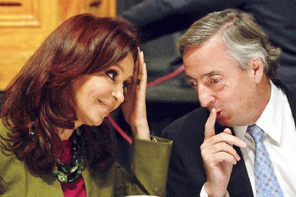 Cristina y Néstor Kirchner.
