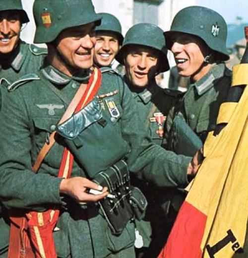 Soldado Alemán voluntario que combatió en la Guerra Civil Española.