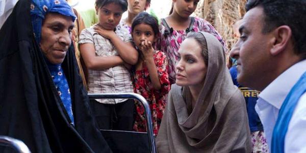 Angelina Jolie Jordania sirios