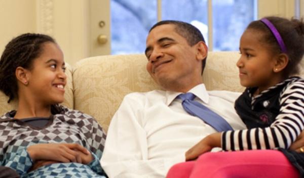 Barack Obama dia del padre