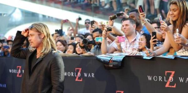 Brad en el estreno de World War Z en New York