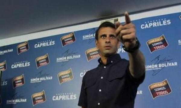 Capriles acusa Maduro de inflacion