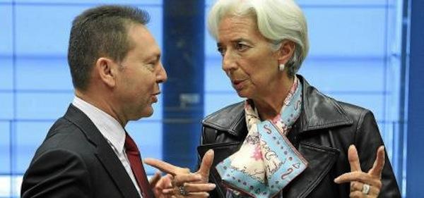 Giannis Stournaras, Christine Lagarde
