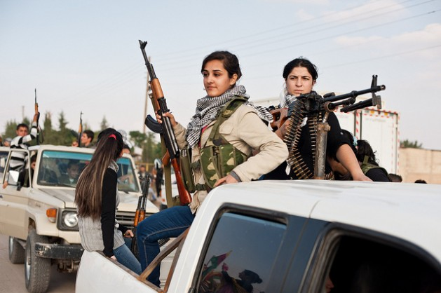 Guerrileras siria