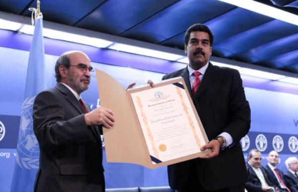 Maduro premio Fao