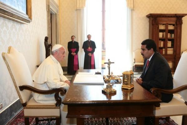 Maduro y Francisco_