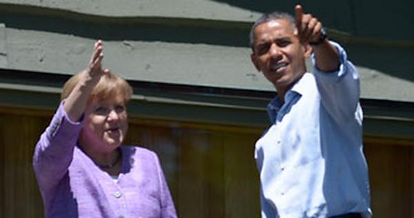 Obama Merkel G8