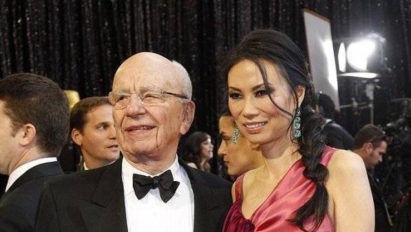 Rupert Murdoch y tercera esposa