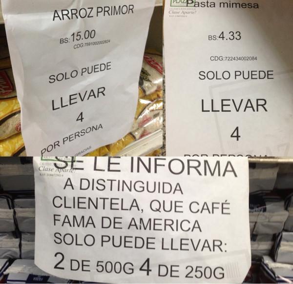 Venezuela vive una fuerte crisis que ha obligado a racionar los productos de la canasta básica familiar.