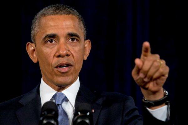 El presidente Barack Obama ofrece un discurso en San Jose, California, el viernes 7 de junio de 2013. Obama defendió el viernes la vigilancia secreta realizada por su gobierno al argumentar que el Congreso ha autorizado en repetidas ocasiones la recopilación de información sobre el uso de teléfonos e internet por parte de la población en Estados Unidos. (Foto AP/Evan Vucci)