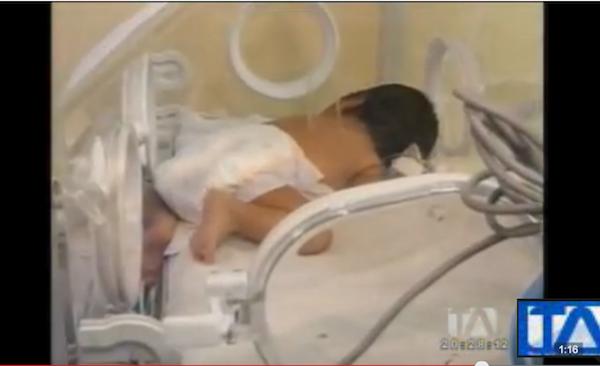 bebé abandonada