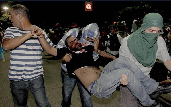 brasil muerto protestas