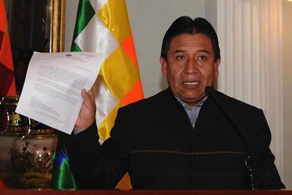 canciller bolivia David Choquehuanca