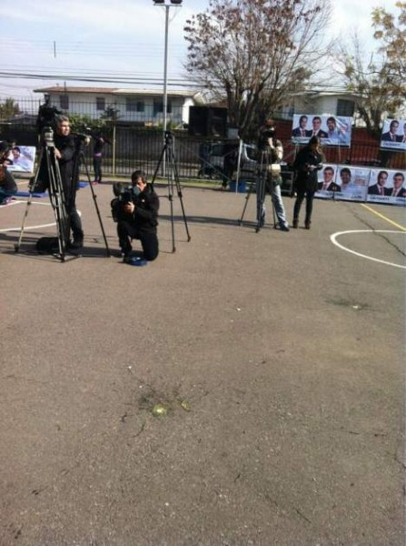 Los huevos durante la rueda de prensa. Cristián Kent | @Cristian_Kent