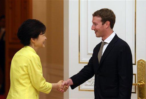Park Geun-hye, Mark Zuckerberg