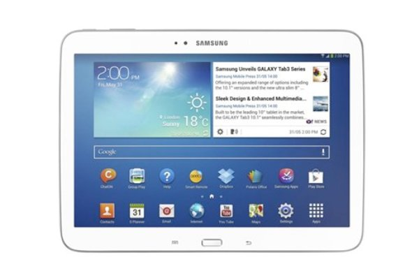 La nueva tableta de 10 pulgadas Galaxy Tab 3, de Samsung Electronics, en una fotografía sin fecha provista por Samsung. (Foto AP/Samsung Electronics Co.)