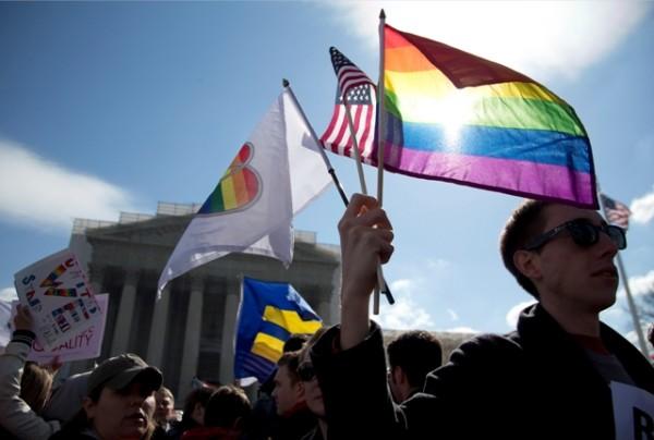 Activistas protestan por matrimonio homosexual en Washington D.C. Foto de Archivo La República.