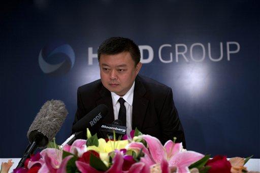 Wang Jing,presidente del HKND de Hong Kong, asiste a una conferencia de prensa en un hotel de Beijing el martes, 25 de junio del 2013. Wang, un empresario chino que planea construir un canal en Nicaragua similar al Canal de Panamá, dijo que sus ambiciones están respaldadas por serios estudios y un equipo de expertos, pese a excepticismos sobre la viabioidad del proyecto. (Foto AP/Ng Han Guan)