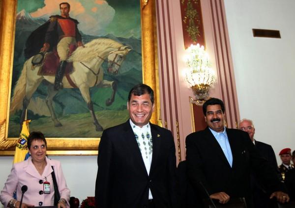 Correa y Maduro. Foto de Archivo