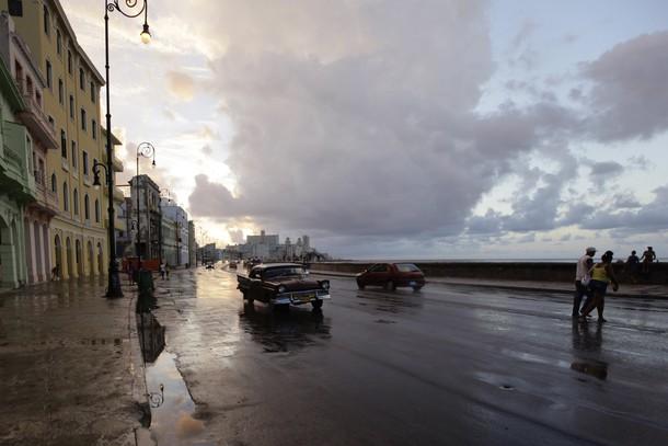 Traffic is seen on Havana's seafront boulevard 'El Malecon'