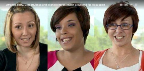 Amanda Berry, Gina DeJesus y Michelle Knight. / AP