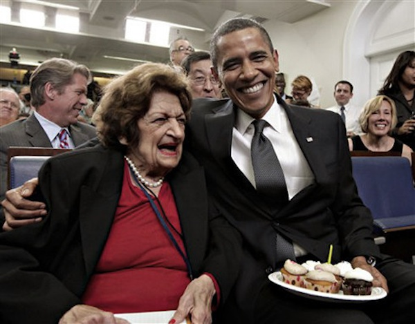 En 2009, con Barack Obama