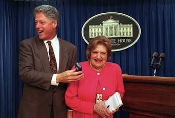 1993, con Bill Clinton.